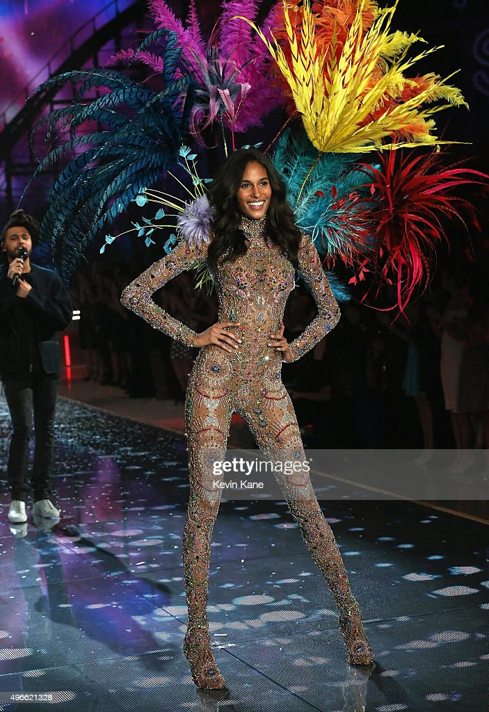 Model Cindy Bruna walks the runway during the 2015 Victoria's Secret Fashion Show at Lexington Armory on November 10, 2015 in New York City.