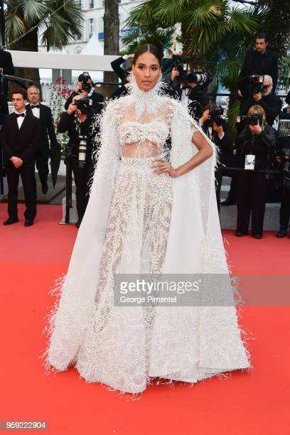 Model Cindy Brunaa ttends the screening of Burning during the 71st annual Cannes Film Festival at Palais des Festivals on May 16 2018 in Cannes France