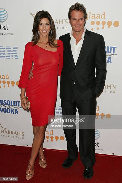Model Cindy Crawford and husband Rande Gerber attend the 19th Annual GLAAD Media Awards held at the Kodak Theatre on April 26 2008 in Hollywood...