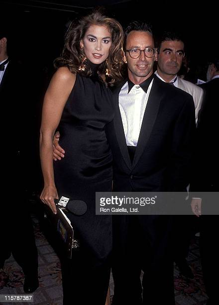 Model Cindy Crawford and photographer Herb Ritts attend the Fifth Annual California Industry Friends of AIDS Project Los Angeles Fashion Show and...
