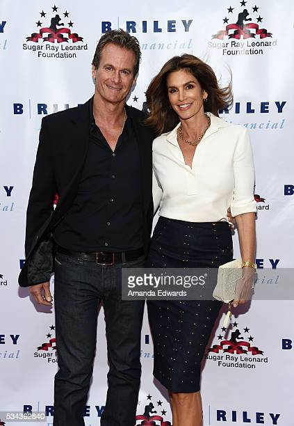 Model Cindy Crawford and Rande Gerber arrive at the 7th Annual Big Fighters Big Cause Charity Boxing Night Benefiting The Sugar Ray Leonard...