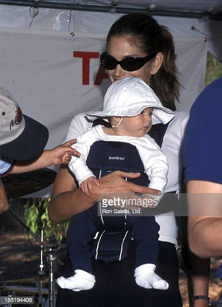 Model Cindy Crawford and son Presley Gerber attend the Fourth Annual Expedition Inspiration Take-A-Hike and Cross-Country-Fun-Run for Breast Cancer...
