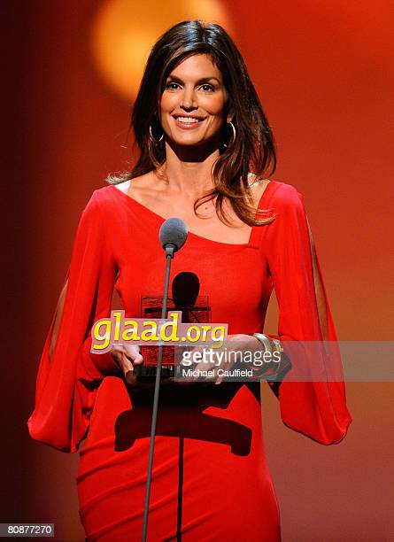 Model Cindy Crawford at the 19th Annual GLAAD Media Awards on April 25, 2008 at the Kodak Theatre in Hollywood, California.