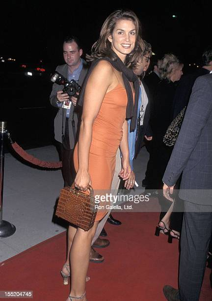 Model Cindy Crawford Attends A Thousand Acres Beverly Hills Premiere On September 15 1997