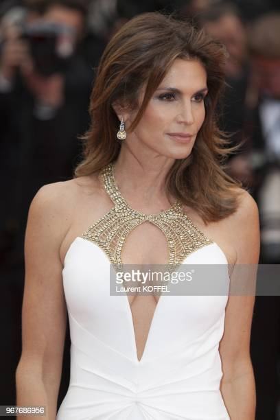 Model Cindy Crawford attends Electrolux at Opening Night of The 66th Annual Cannes Film Festival at the Theatre Lumiere on May 15 2013 in Cannes...