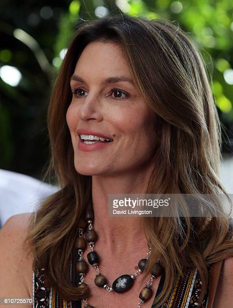 Model Cindy Crawford attends Revlon's Annual Philanthropic Luncheon at Chateau Marmont on September 27 2016 in Los Angeles California