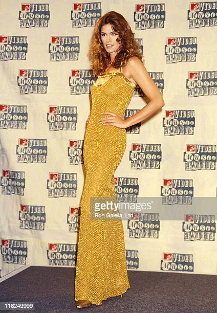 Model Cindy Crawford attends the 11th Annual MTV Video Music Awards on September 8 1994 at Radio City Music Hall in New York City