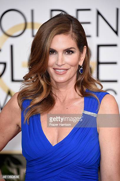 Model Cindy Crawford attends the 72nd Annual Golden Globe Awards at The Beverly Hilton Hotel on January 11, 2015 in Beverly Hills, California.