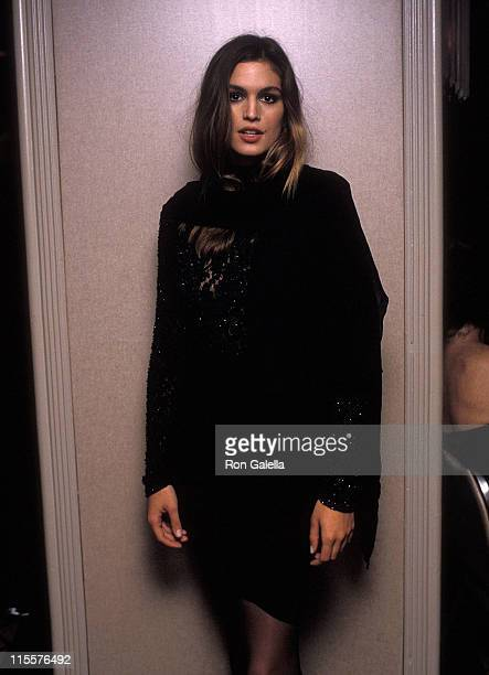 Model Cindy Crawford attends the Fragrance Foundation's 40th Anniversary Celebration the 17th Annual FiFi Awards on June 7 1989 at the WaldorfAstoria...