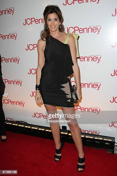 Model Cindy Crawford attends the JCPenney Discover Spring Style event at Alice Tully Hall Lincoln Center on March 2 2010 in New York City