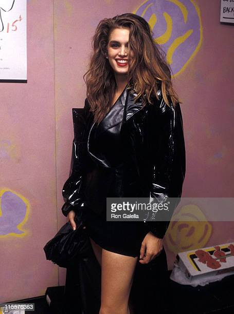 Model Cindy Crawford attends The Love Ball to Benefit the Design Industries Foundation for AIDS on May 10 1989 at Roseland in New York City