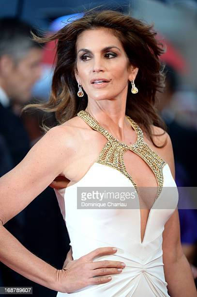 Model Cindy Crawford attends the Opening Ceremony and premiere of 'The Great Gatsby' during the 66th Annual Cannes Film Festival at Palais des...
