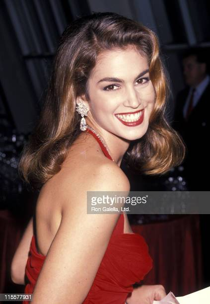 Model Cindy Crawford attends the Second Annual Revlon's Unforgettable Women Contest Winner Annoucement on August 2 1990 at the Metropolitan Museum of...