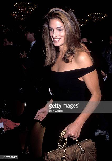 Model Cindy Crawford attends the Sixth Annual American Cinematheque Award Salute to Martin Scorsese on March 22 1991 at Century Plaza Hotel in Los...