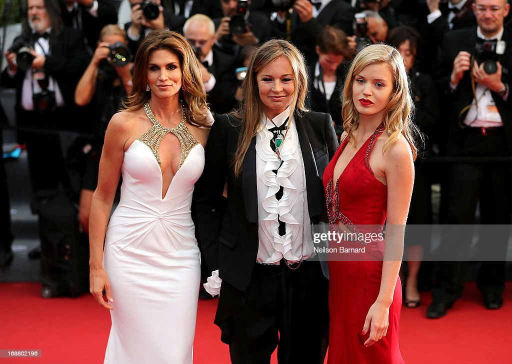 Model Cindy Crawford, Eva Cavalli and Georgia May Jagger attend the Opening Ceremony and premiere of 'The Great Gatsby' during the 66th Annual Cannes Film Festival at Palais des Festivals on May 15, 2013 in Cannes, France.