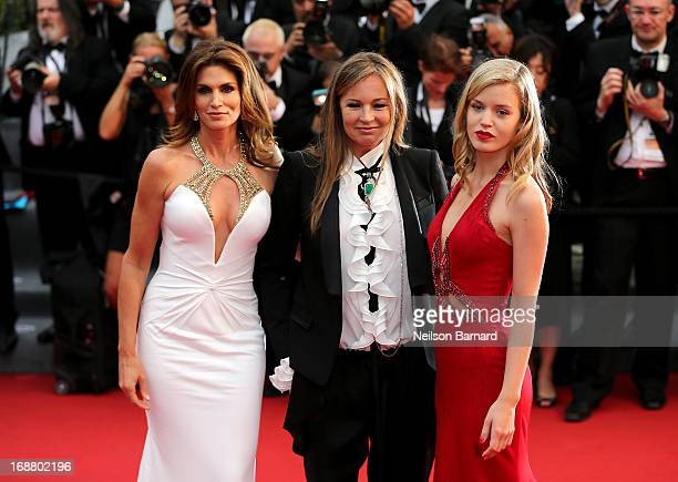 Model Cindy Crawford Eva Cavalli and Georgia May Jagger attend the Opening Ceremony and premiere of 'The Great Gatsby' during the 66th Annual Cannes...