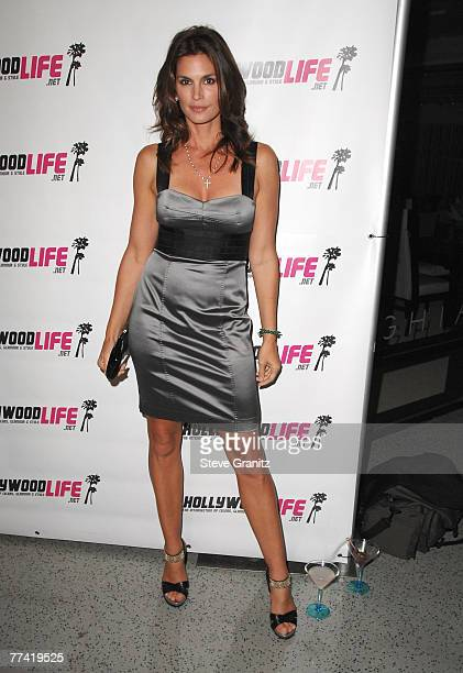 Model Cindy Crawford inside Movieline's Hollywood Life Style Awards at the Pacific Design Center on October 7, 2007 in West Hollywood, California.