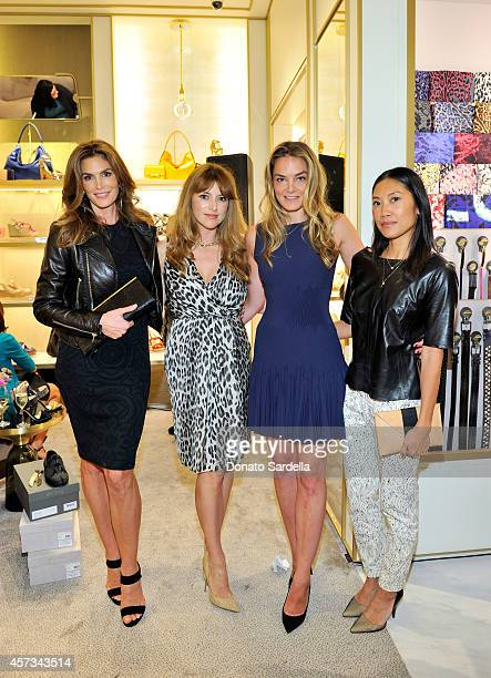 Model Cindy Crawford Jimmy Choo Director of Entertainment Relations Sara Riff Delete Blood Cancer CoFounder Katharina Harf and fashion blogger...