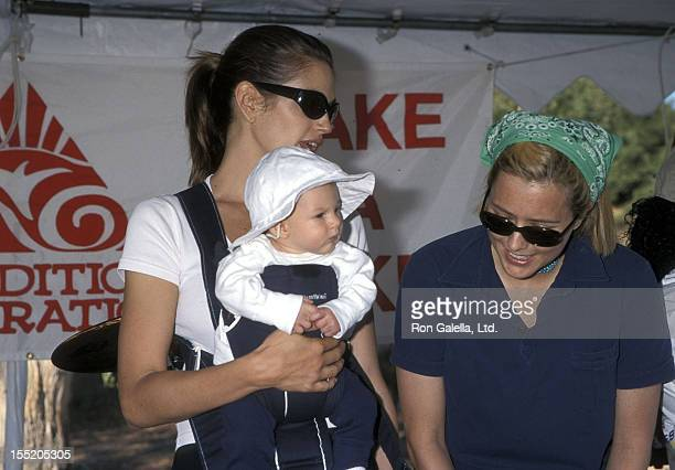 Model Cindy Crawford, son Presley Gerber and actress Tea Leoni attend the Fourth Annual Expedition Inspiration Take-A-Hike and Cross-Country-Fun-Run...