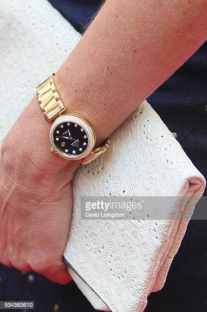 Model Cindy Crawford watch detail arrives at the 7th Annual Big Fighters Big Cause Charity Boxing Night Benefiting The Sugar Ray Leonard Foundation...