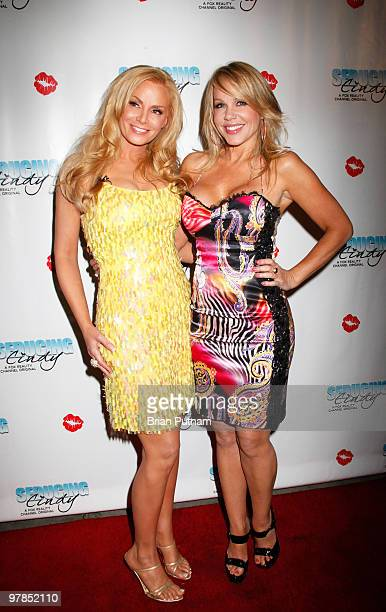 Model Cindy Margolis and Playmate Luann Lee arrive for 'Seducing Cindy' Finale Party at Guy's North on March 18 2010 in Studio City California