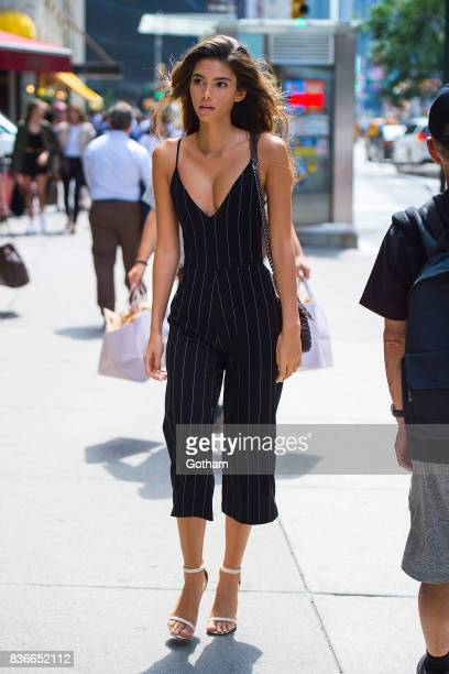 Model Cindy Mello attends call backs for the 2017 Victoria's Secret Fashion Show in Midtown on August 21, 2017 in New York City.