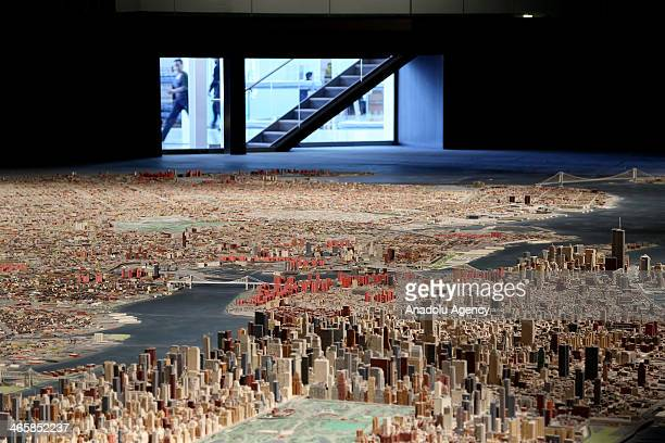"""Model city of New York including 895.000 buildings, was made in 1964. """"Panorama of the City of New York"""", name of the model city, has been hosting at..."""