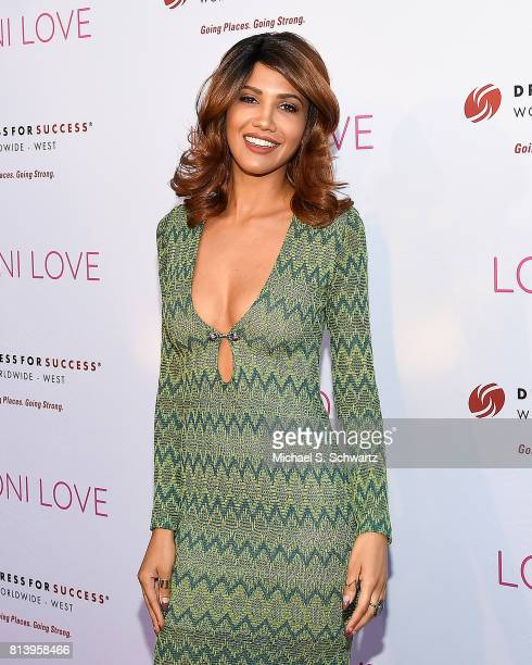 Model CJ Franco attends Loni Love's Birthday Roast benefiting the Dress For Success charity at Hollywood Improv on July 12 2017 in Hollywood...
