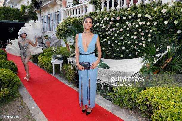 Model CJ Franco attends the Artists for Peace and Justice cocktail event celebrating the 70th Annual Cannes Film Festival presented on the Lemon...