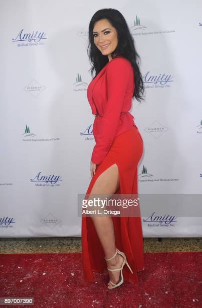 Model CJ Sparxx attends A Children's Miracle Holiday Sponsored by Amity Medical Group and Vitamin Patch Club in Partnership with Foothill Regional...