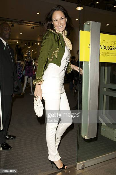 Model Claire Merry leaves Selfridges Oxford Street on March 5 2009 in London England