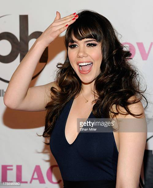 Model Claire Sinclair arrives at the Las Vegas premiere of the movie 'Lovelace' at Planet Hollywood Resort Casino on August 4 2013 in Las Vegas Nevada