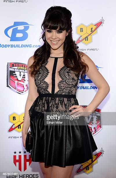 Model Claire Sinclair arrives at the sixth annual Fighters Only World Mixed Martial Arts Awards at The Palazzo Las Vegas on February 7 2014 in Las...
