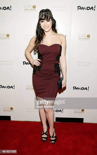 Model Claire Sinclair arrives at the world premiere of PANDA on January 11 2014 in Las Vegas Nevada