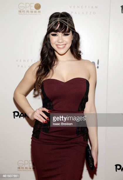 Model Claire Sinclair arrives at the world premiere of 'PANDA' on January 11 2014 in Las Vegas Nevada
