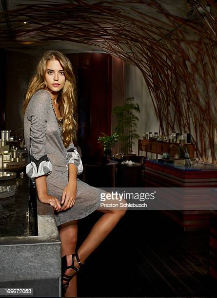 Model Clara Alonso is photographed for Elle Magazine Spain on September 11 2008 in Madrid Spain