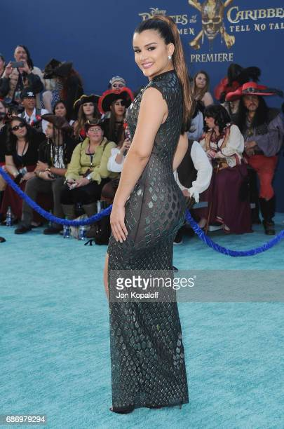 Model Clarissa Molina arrives at the Los Angeles Premiere Pirates Of The Caribbean Dead Men Tell No Tales at Dolby Theatre on May 18 2017 in...