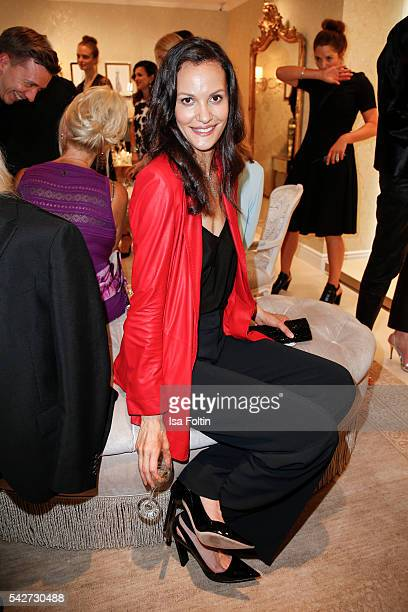 US model Claudia Mason attends the ESCADA Flagship Store Opening on June 23 2016 in Duesseldorf Germany