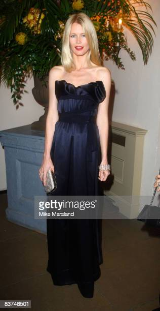 Model Claudia Schiffer attends Chaos Point in aid of NSPCC at the Banqueting House November 18 2008 in London England