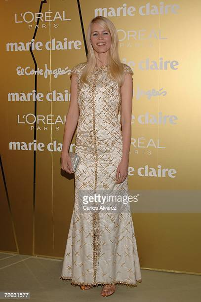 Model Claudia Schiffer attends the Marie Clare Awards French Embassy November 22 2006 in Madrid Spain