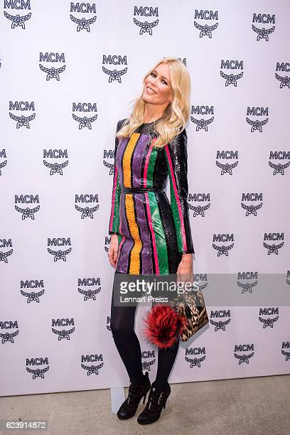 Model Claudia Schiffer attends the MCM 40th Anniversary event on November 17 2016 in Munich Germany