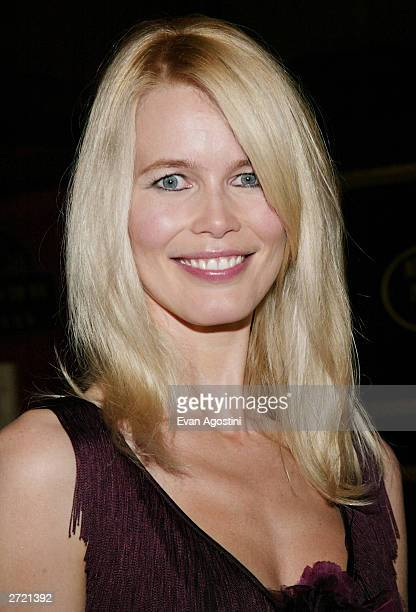 "Model Claudia Schiffer attends the World Premiere of ""Love Actually"" at the Ziegfeld Theatre November 06, 2003 in New York City."
