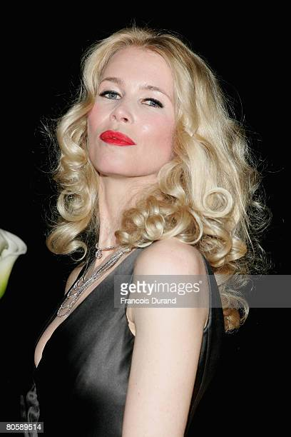 Model Claudia Schiffer attends the 'Writing Time', Robert Wilson's watch launch gala hosted by Montblanc during the Salon International de la Haute...