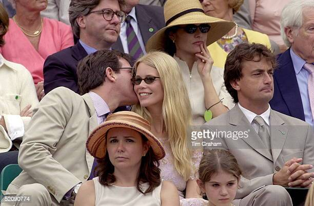 Model Claudia Schiffer With Boyfriend Tim Jeffreys At A Charity Tennis Tournament On Behalf Of The Nspcc At The Tennis Courts At Buckingham Palace...