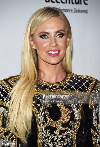 Model Claudine Keane arrives at the 2016 Oscar Wilde Awards at Bad Robot on February 25 2016 in Santa Monica California