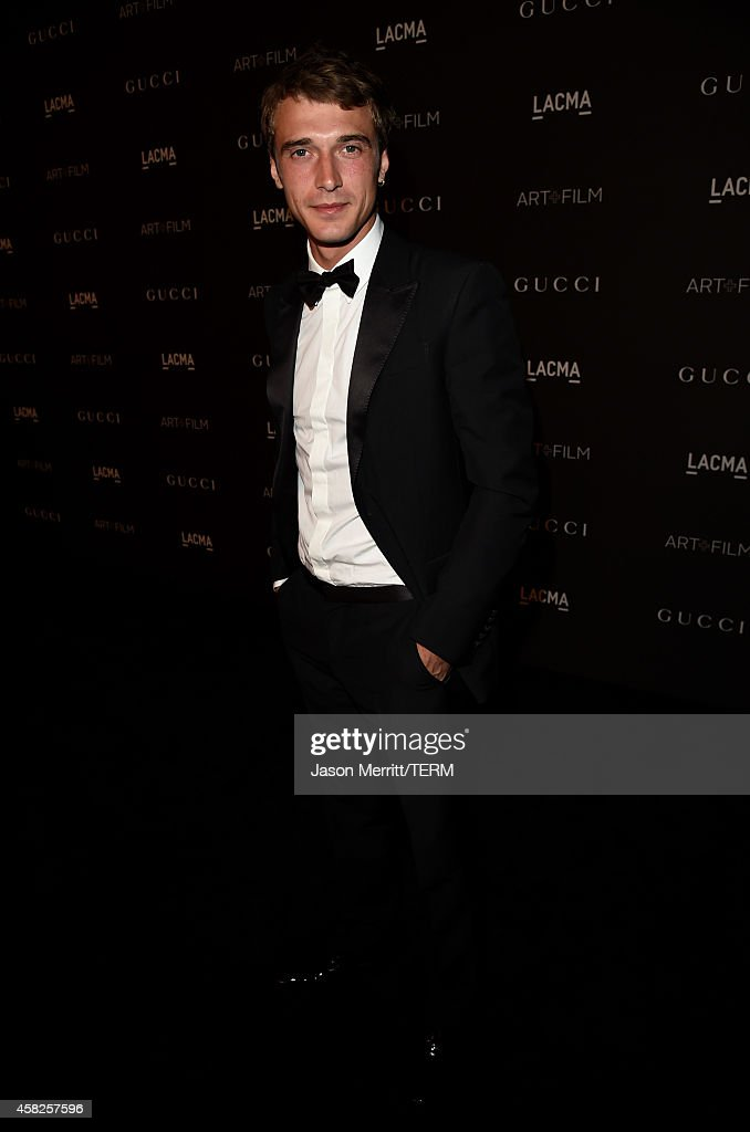 Model Clement Chabernaud, wearing Gucci, attends the 2014 LACMA Art + Film Gala honoring Barbara Kruger and Quentin Tarantino presented by Gucci at LACMA on November 1, 2014 in Los Angeles, California.