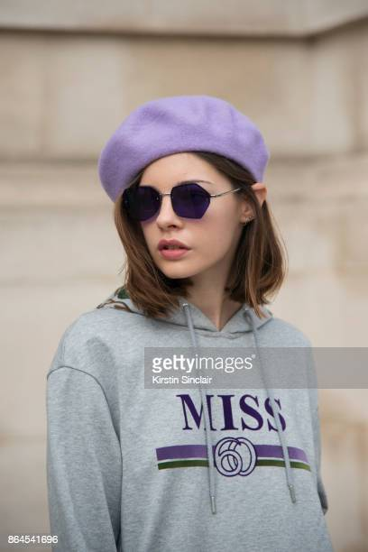 Model Clémence Lognonné wears Miss Sixty day 2 of Paris Womens Fashion Week Spring/Summer 2018 on September 27 2017 in London England
