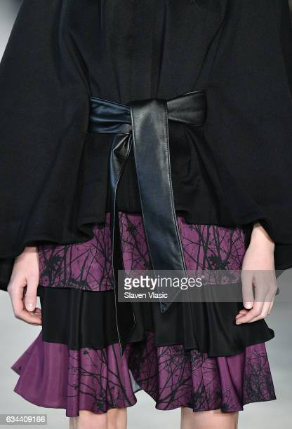 A model clothing detail walks the runway at Ane Amour fashion show during February 2017 New York Fashion Week at Pier 59 on February 9 2017 in New...