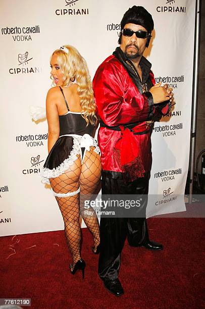 Model Coco and actor IceT attend the Roberto Cavalli Vodka and Giuseppe Cipriani Halloween Party at Ciprianis 42nd Street October 31 2007 in New York...