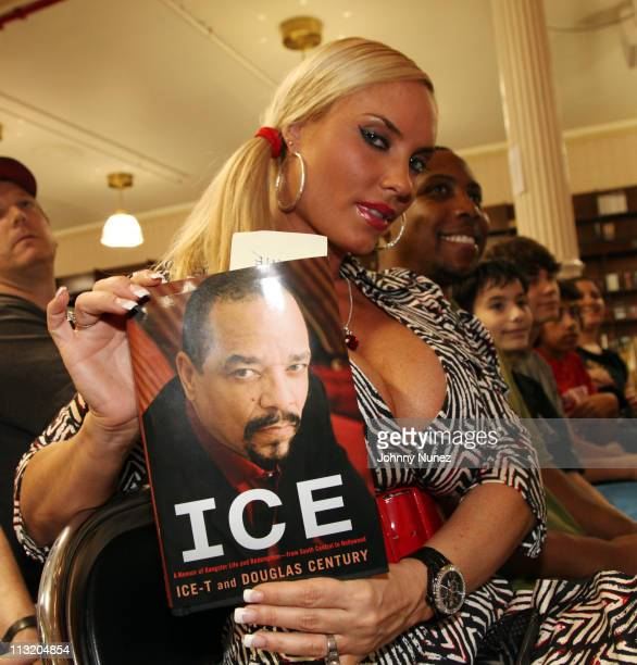 Model Coco attends IceT's instore promotion for 'Ice A Memoir of Gangster Life and Redemption from South Central to Hollywood' at Barnes Noble Union...
